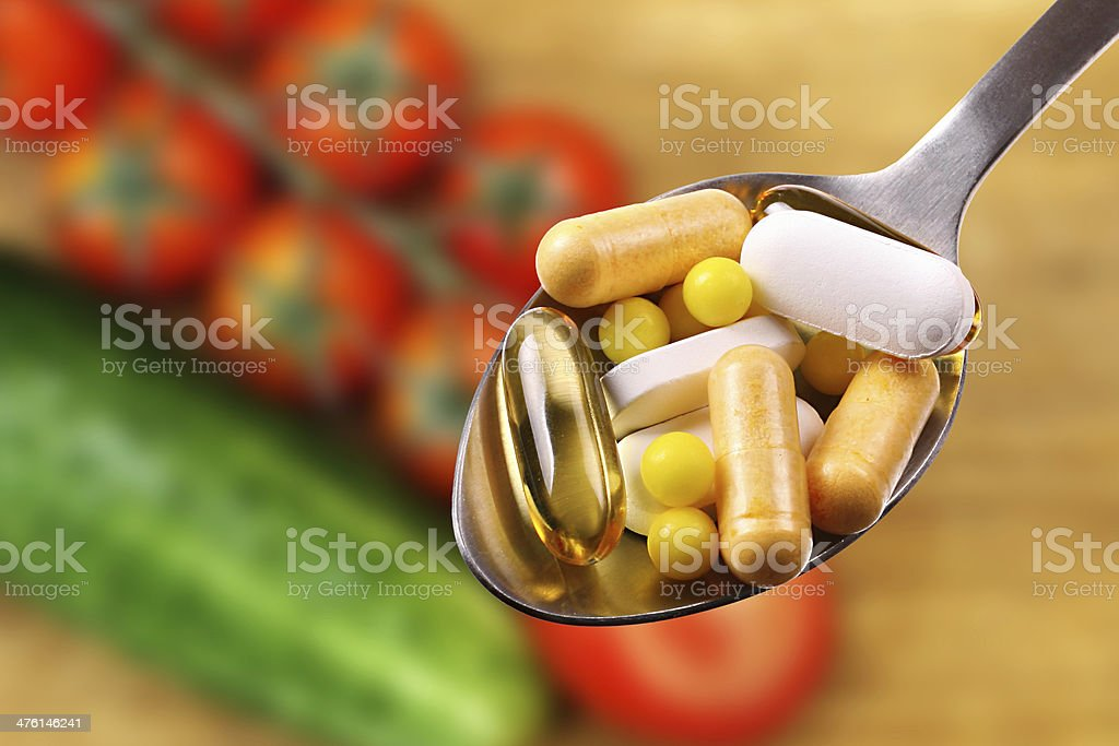 dietary supplements royalty-free stock photo
