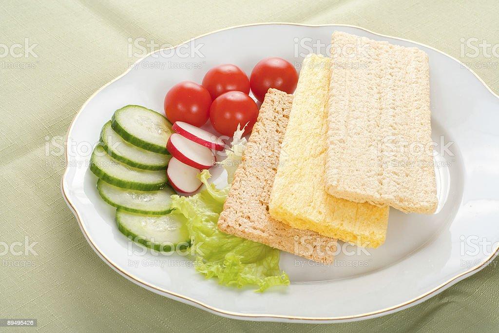 Dietetic sandwich royaltyfri bildbanksbilder