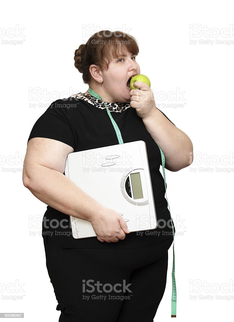 dieting overweight women royalty-free stock photo