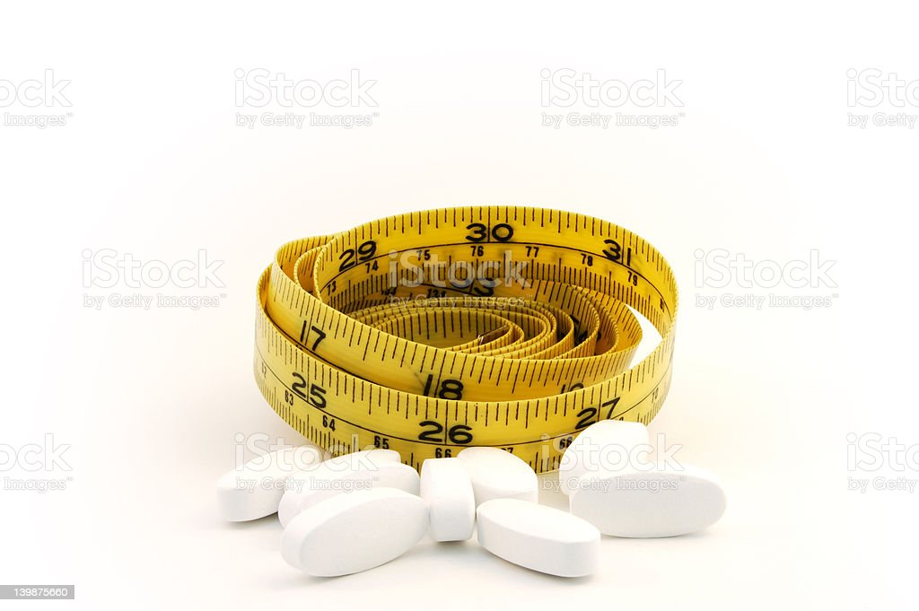 Dieting pill royalty-free stock photo