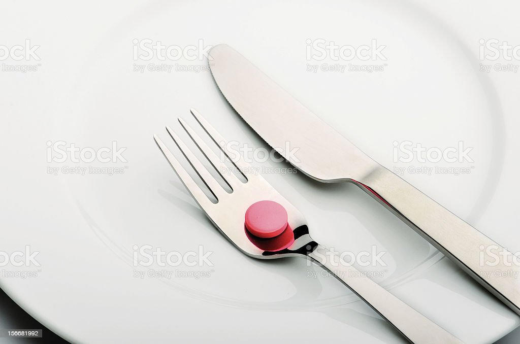 Dieting pills royalty-free stock photo