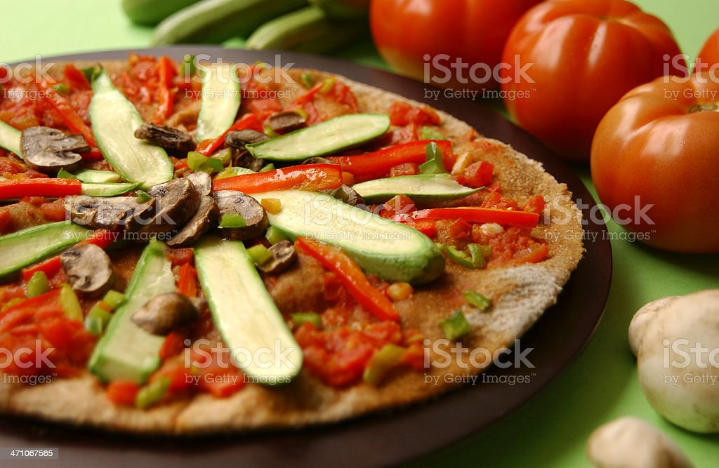 Dieting pizza royalty-free stock photo