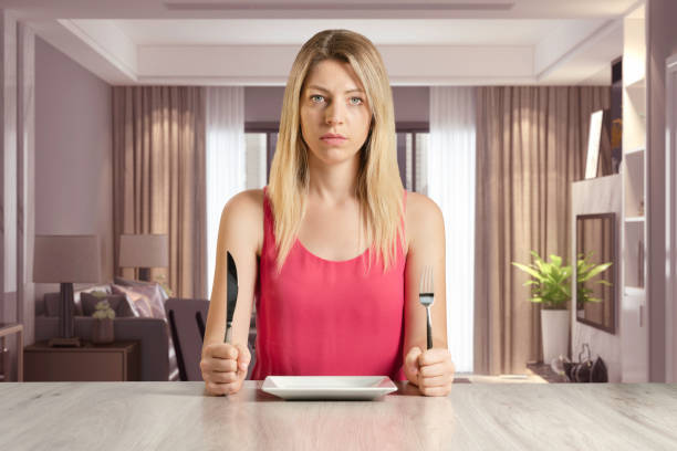 Dieting Women in House stock photo