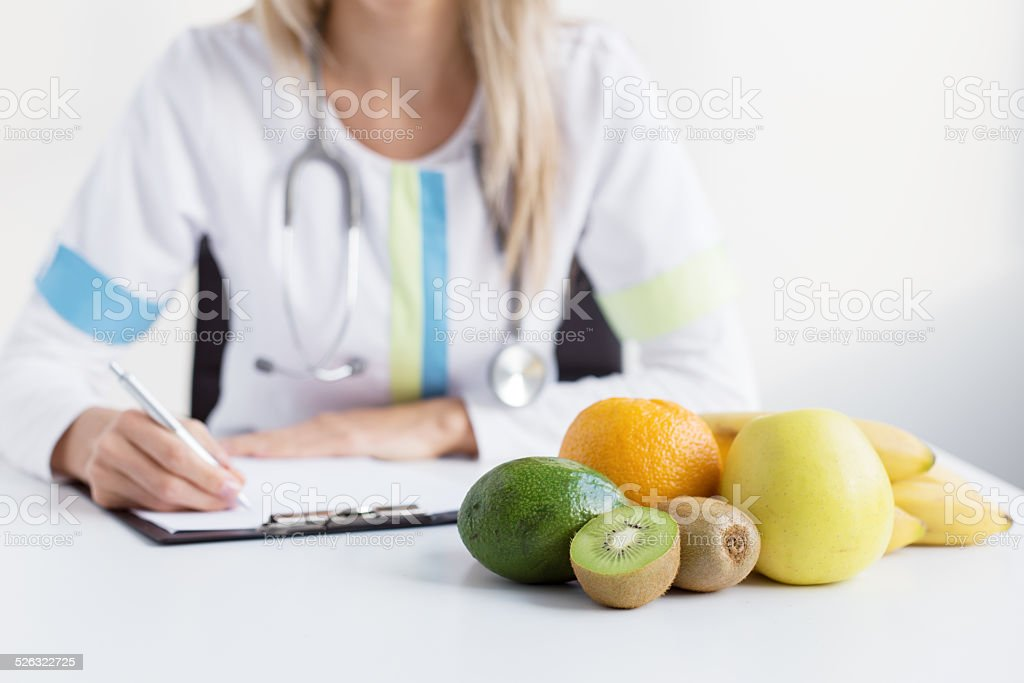 Dietitian doctor stock photo