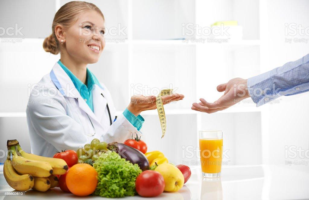 Dietitian mit Patienten – Foto