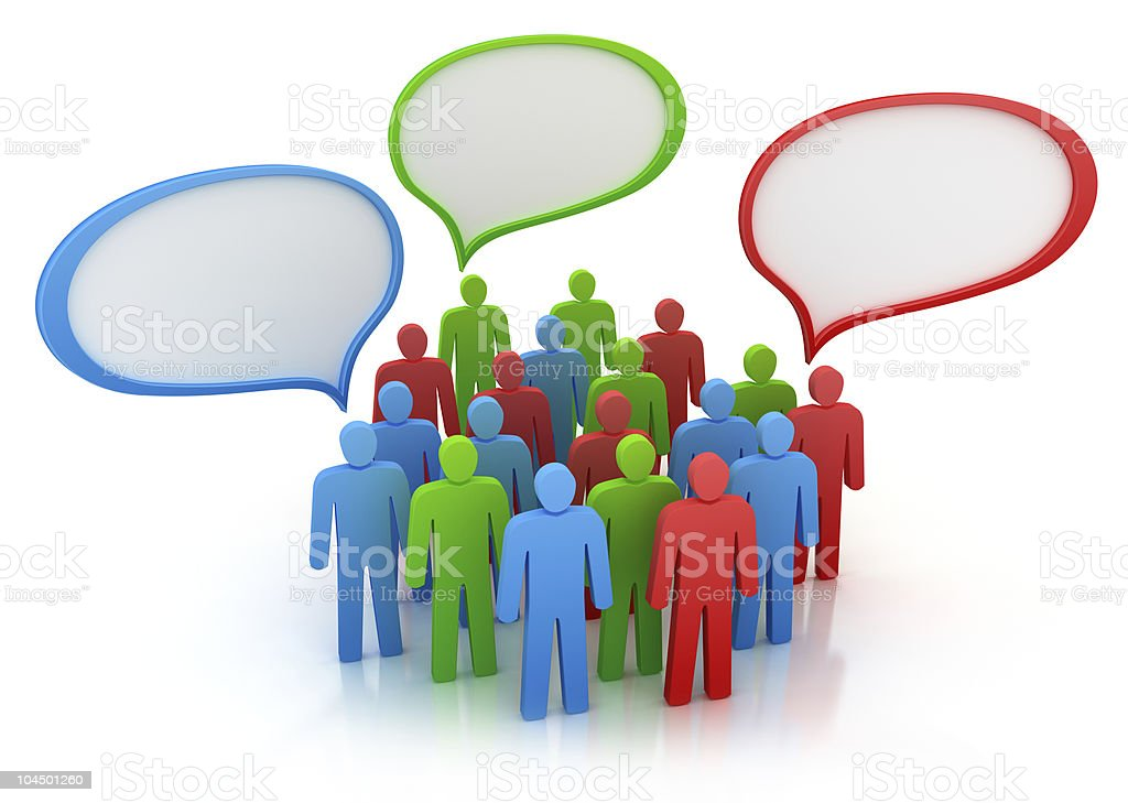 Diferent views of people group royalty-free stock photo