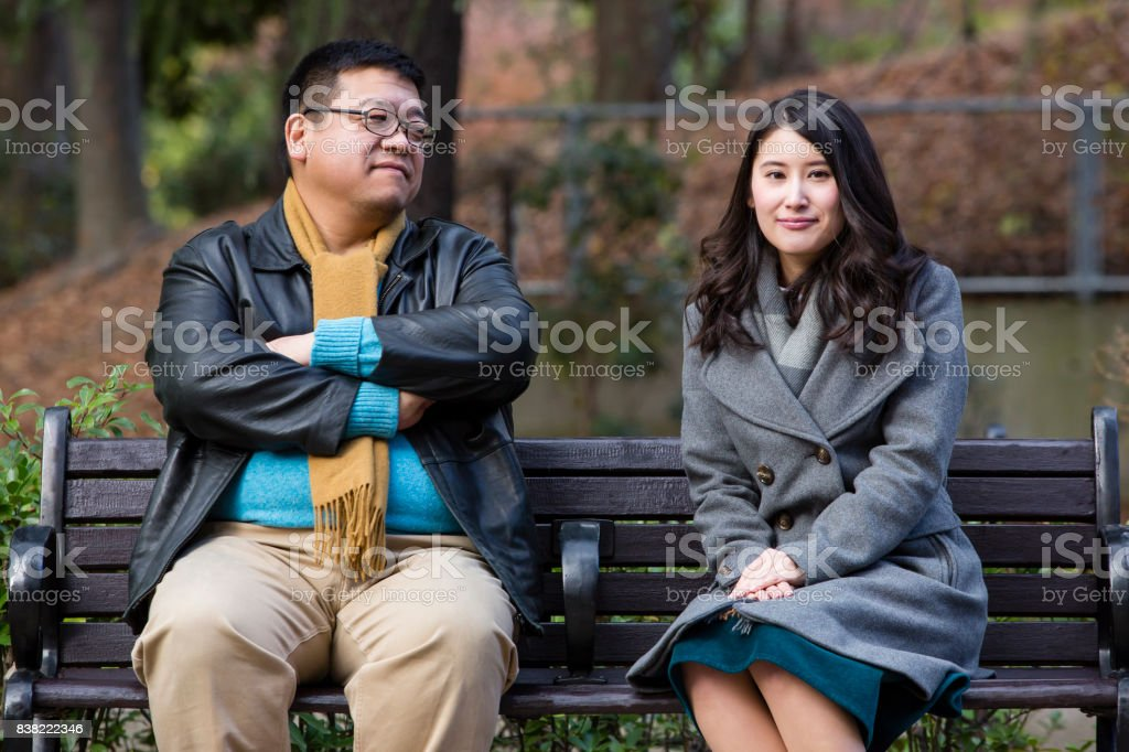 Difference between a couple of years stock photo