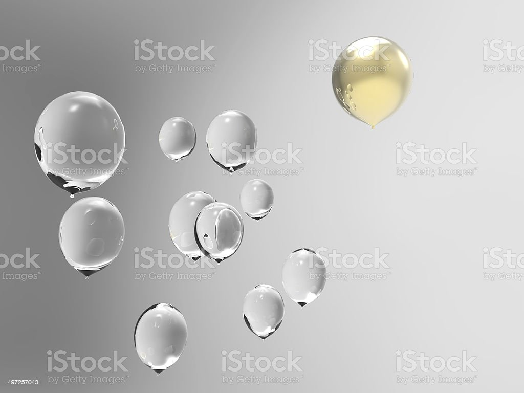 Difference of balloons royalty-free stock photo