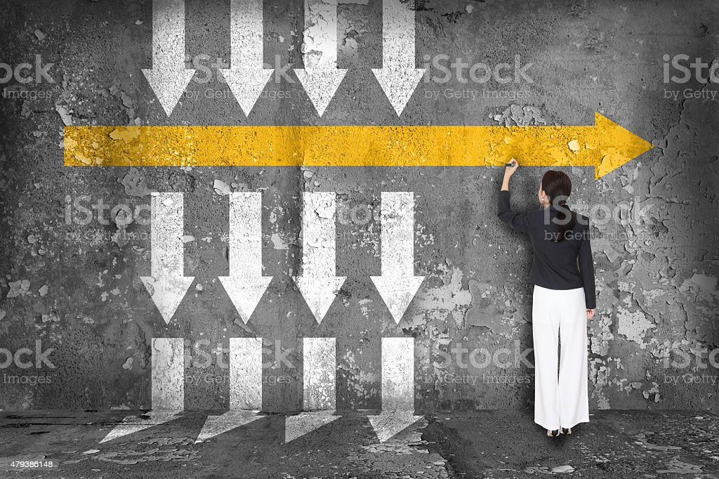 Difference thinking concept. stock photo