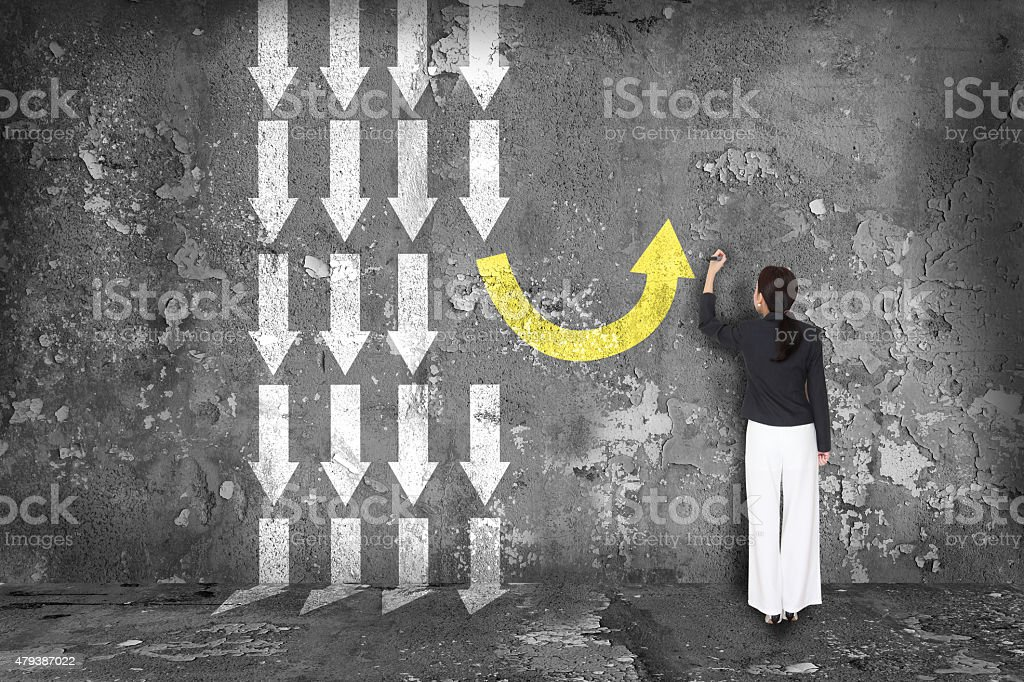 Diferencia pensar concepto. - Foto de stock de 2015 libre de derechos