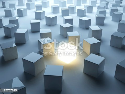 istock Different. Abstract 3D background of business 173737815
