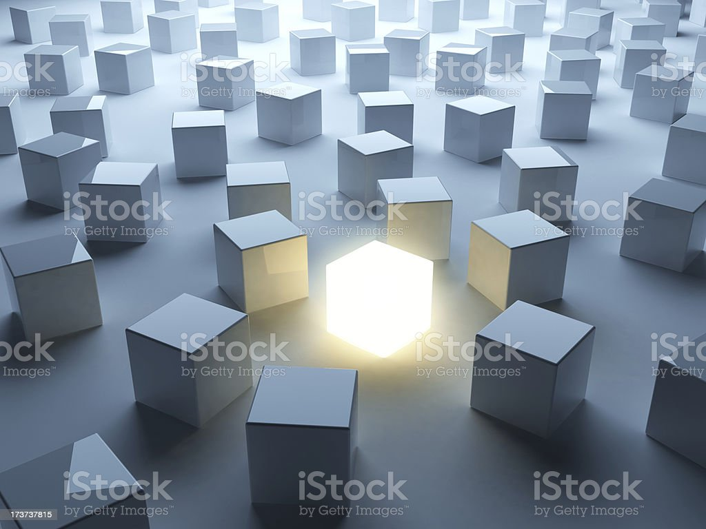 Different. Abstract 3D background of business stock photo