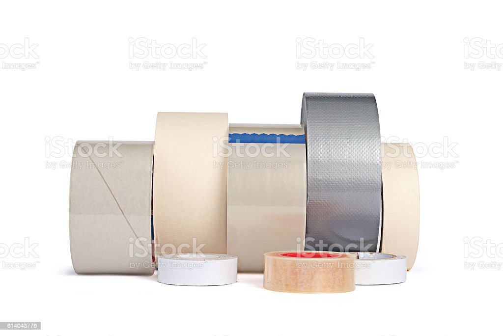Different adhesive tapes stock photo