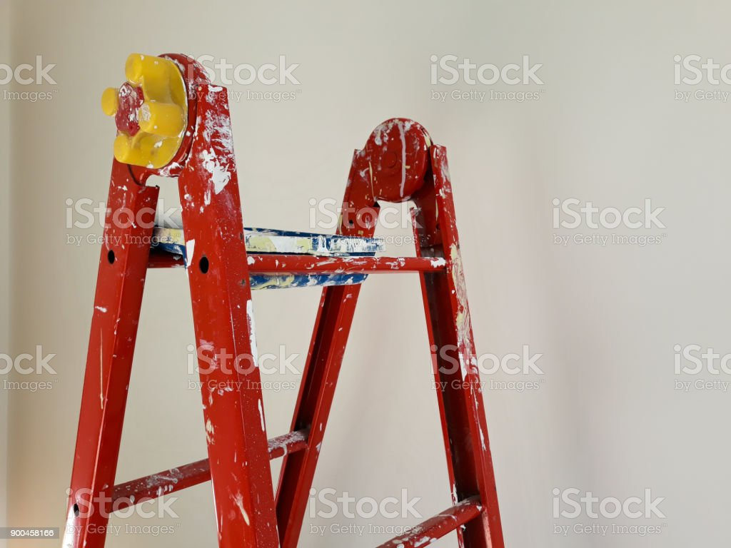 Different Angles Of A Painters Ladder In A Room To Be Refurbished Stock Photo Download Image Now Istock