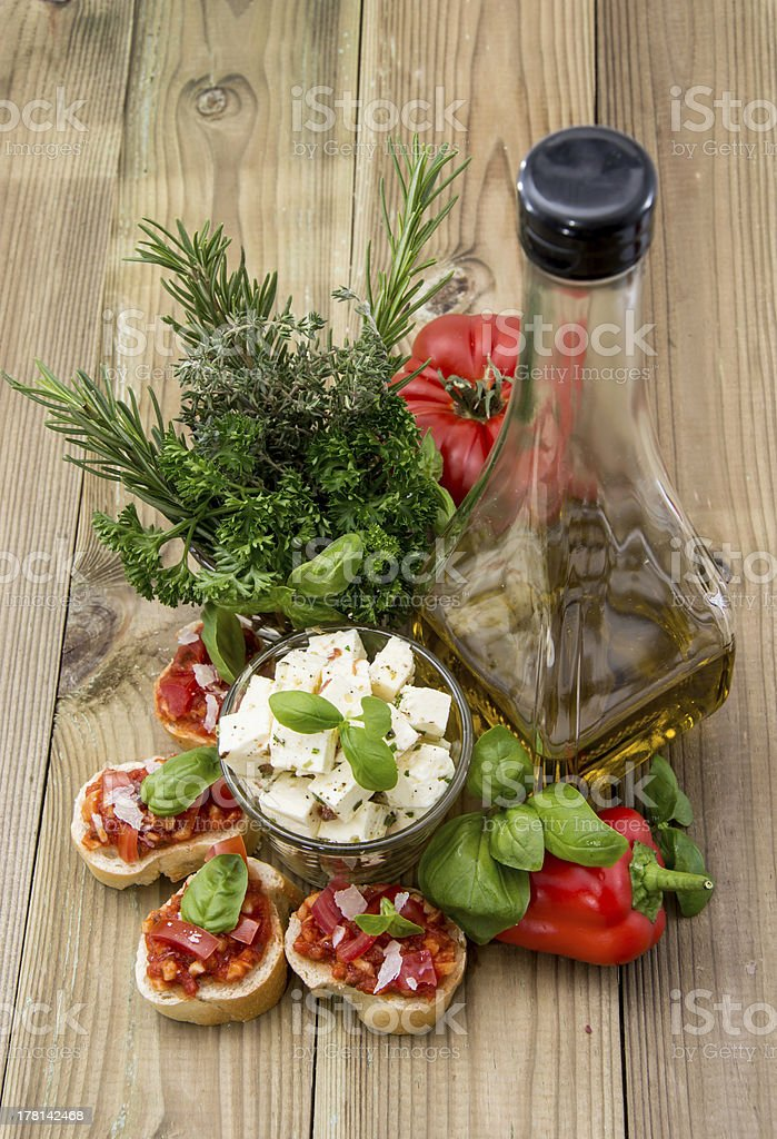 Different Antipasto royalty-free stock photo