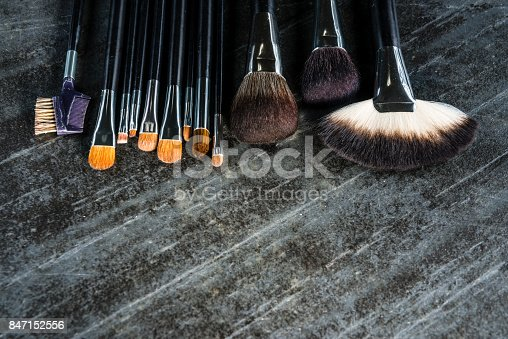 847152782 istock photo different applying fashion cosmetic brush set 847152556