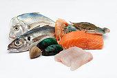 Raw fish composition.
