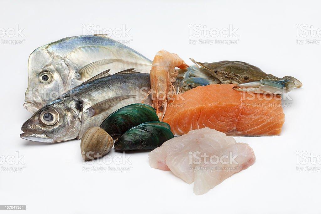 Composición de pescado - foto de stock