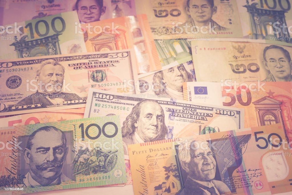 Different banknote for business background stock photo