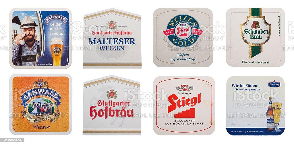 Verschiedene Bier coasters – Foto