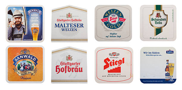 Different beer coasters foto