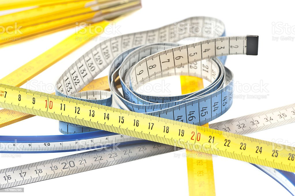 different benchmarks metering rule abstract royalty-free stock photo