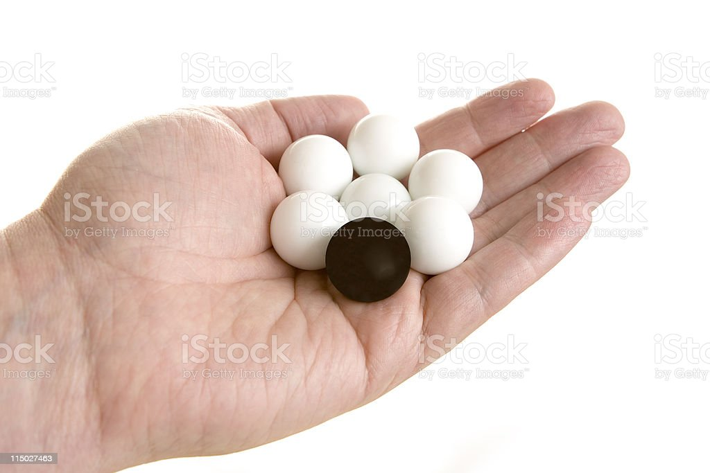 Different - Black Ball stock photo