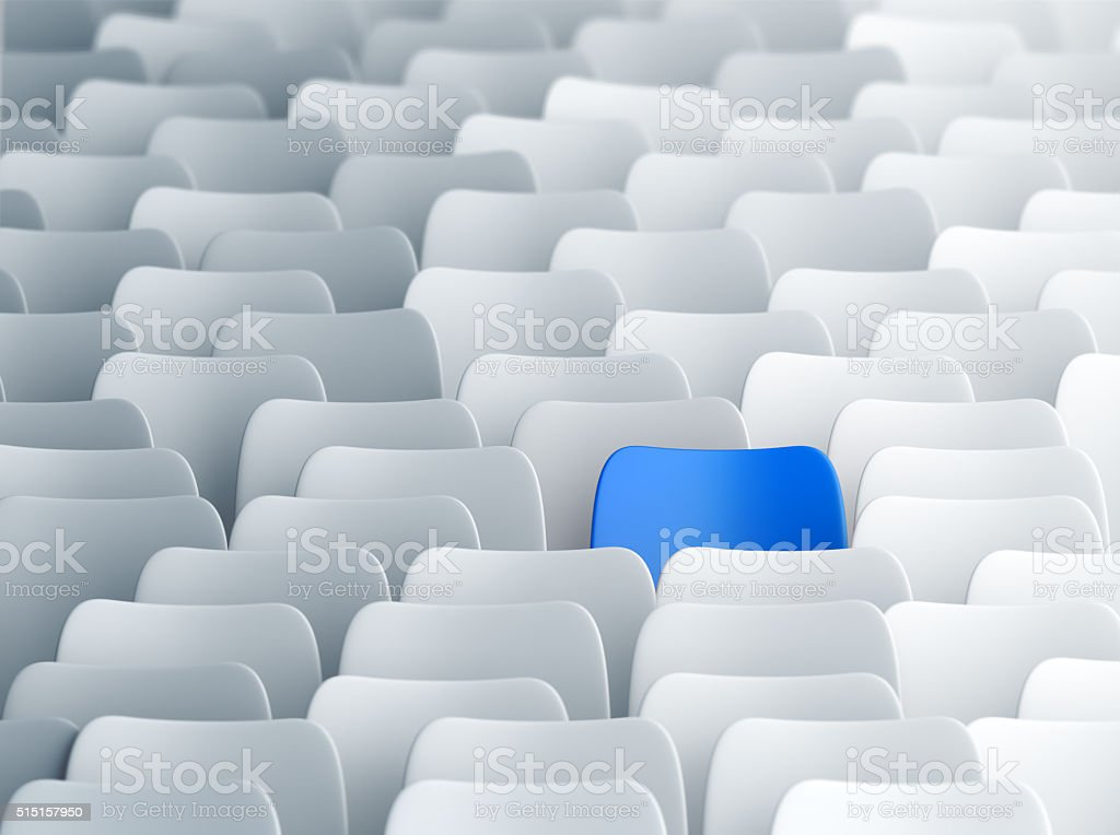 Different blue chair stock photo