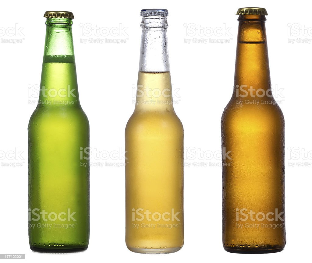 different bottles of beer royalty-free stock photo