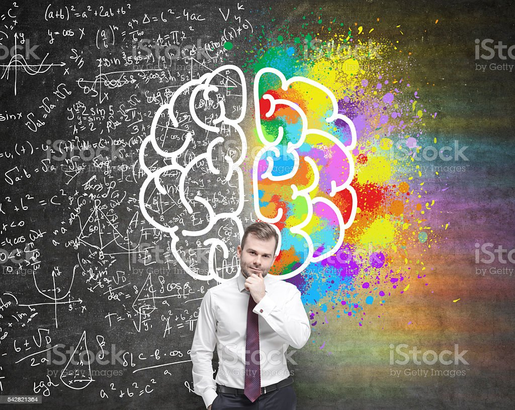 Different brain sides stock photo