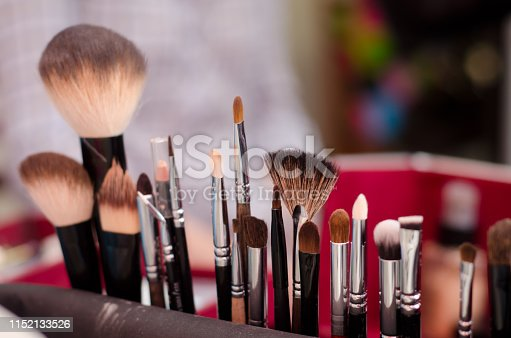 istock Different brushes for makeup 1152133526