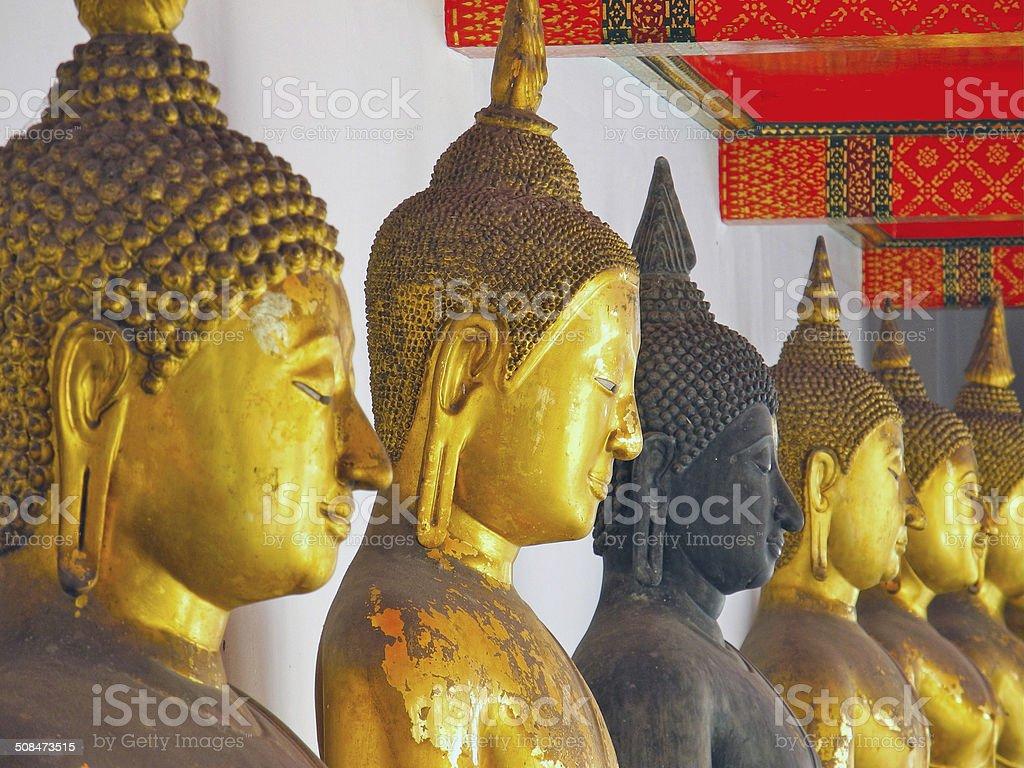 Different Buddhas stock photo
