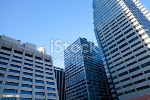 istock Different buildings in New York City 465885343