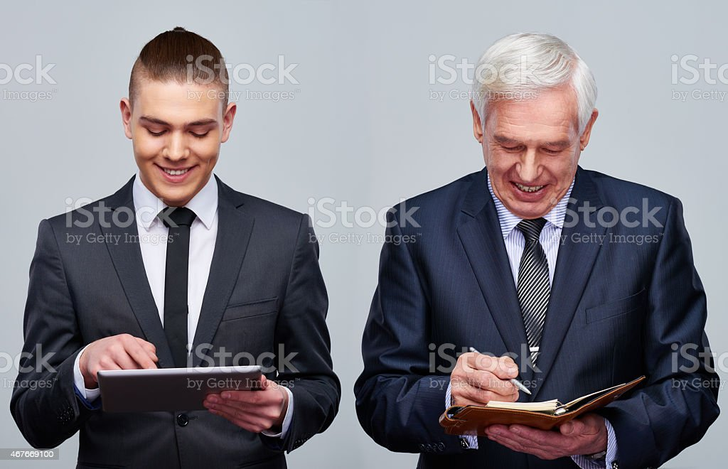 Different business habits stock photo