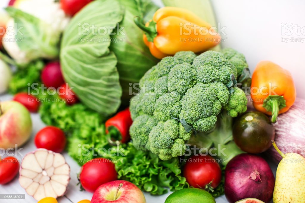 Different cabbage and fresh Vegetables. - Royalty-free Agriculture Stock Photo