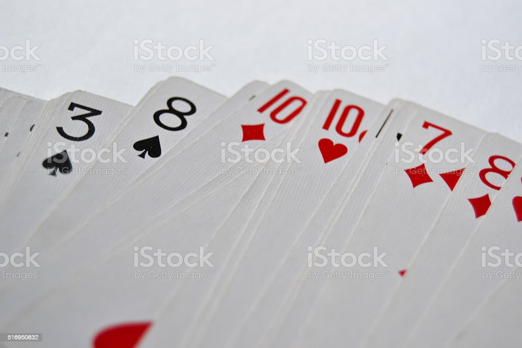 Different cards from a card deck stock photo