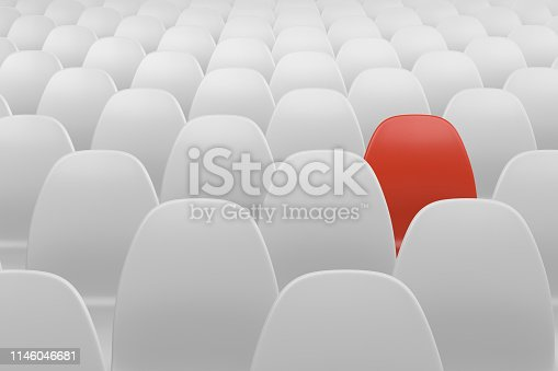 istock Different chair, teamwork and leadership concept 1146046681