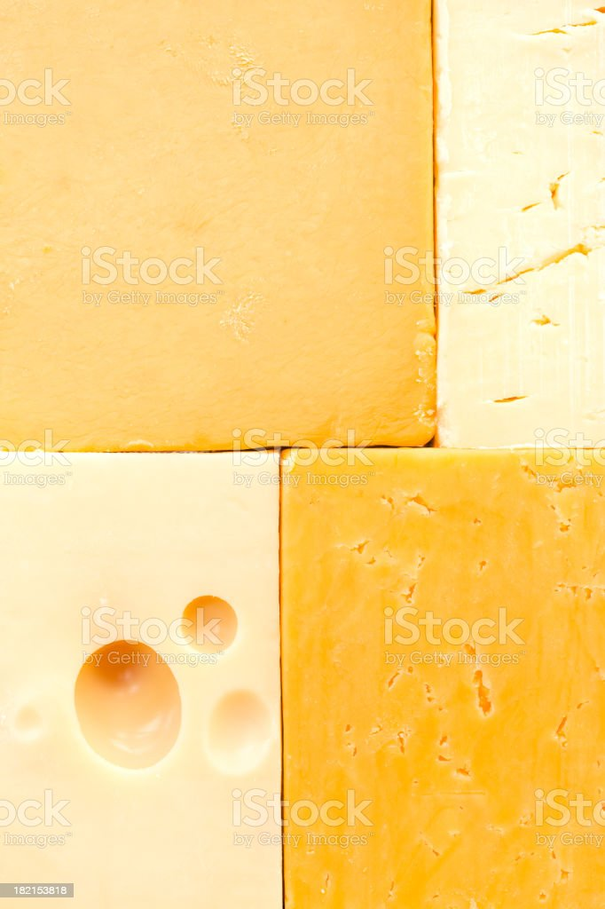 Different cheeses stock photo
