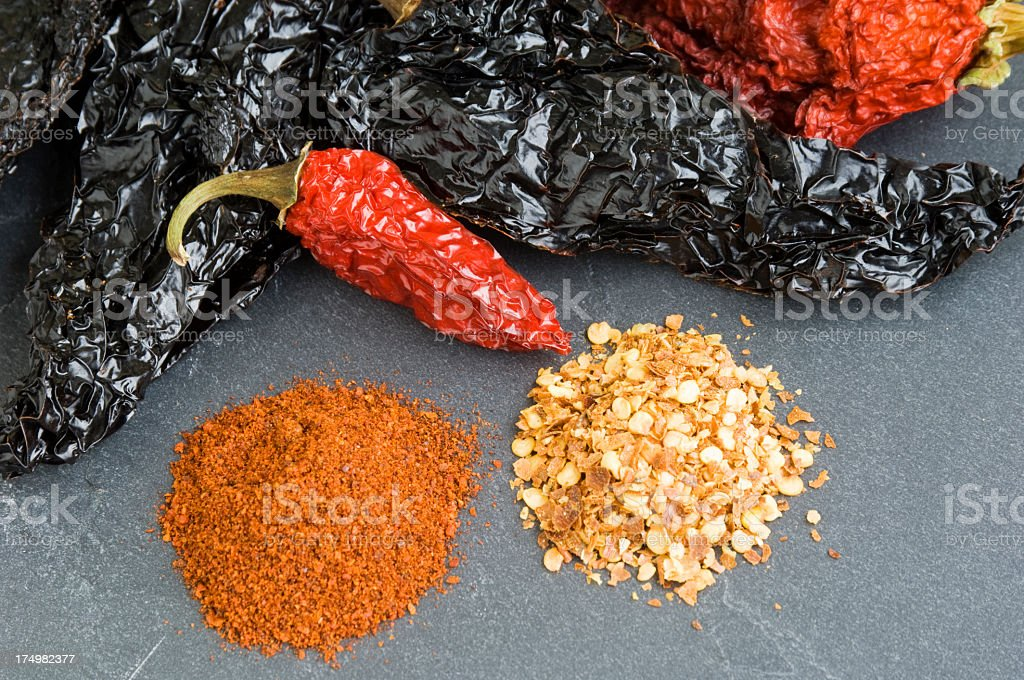 Different Chilis royalty-free stock photo
