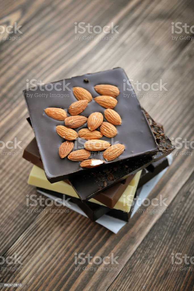 Different Chocolate bar royalty-free stock photo