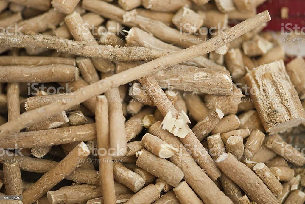 Different Chunks of Miswaks royalty-free stock photo