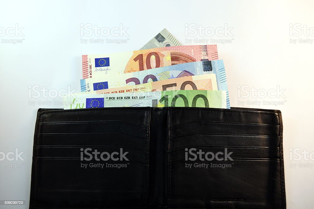 Different Close up EURO Bank note and currency royalty-free stock photo