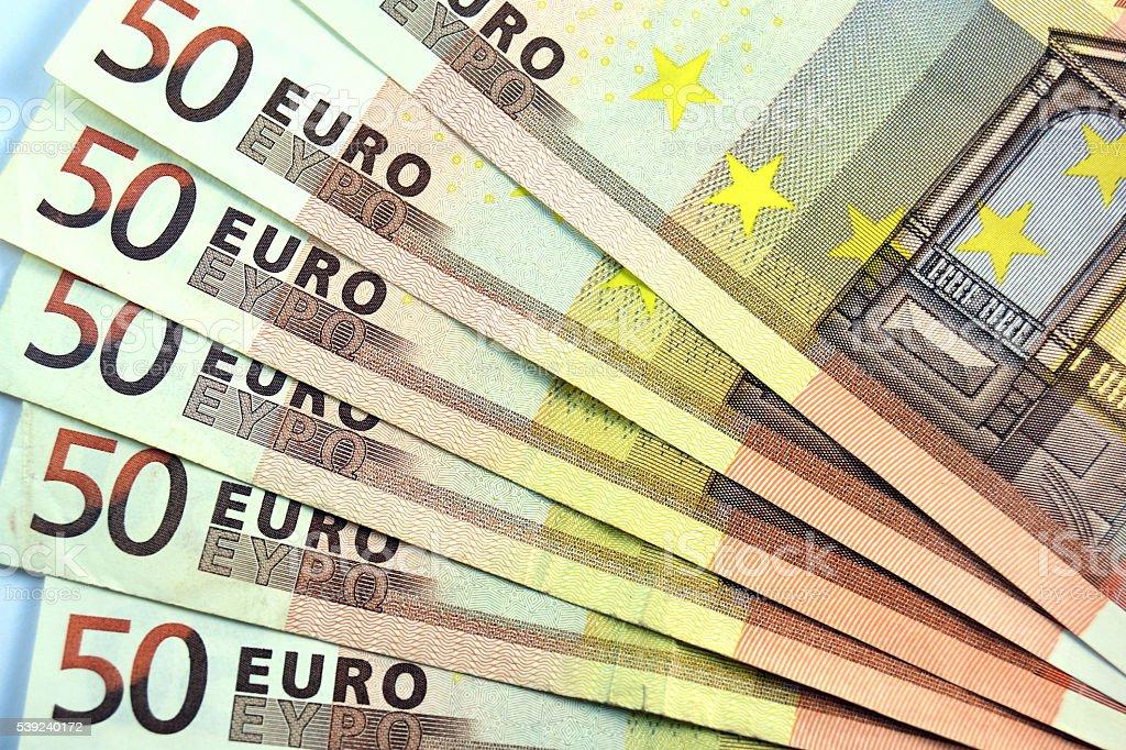 Diferentes acercamiento EURO nota y banco de moneda foto de stock libre de derechos