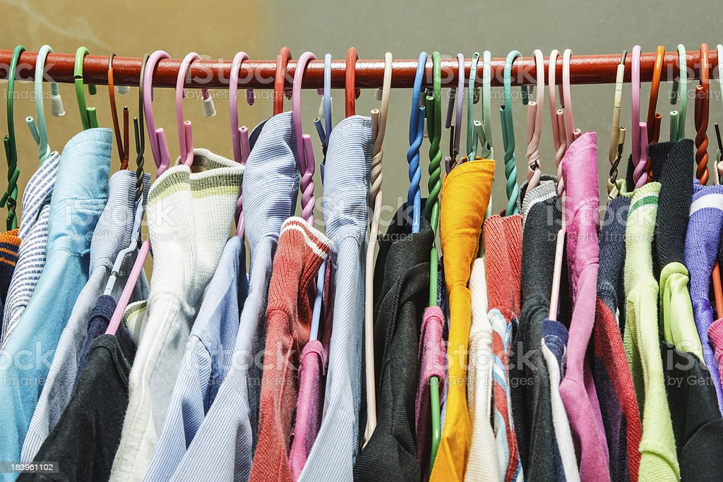 Different cloth royalty-free stock photo