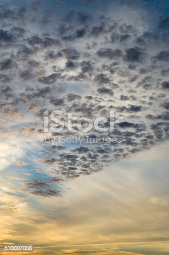 istock Different clouds on sunsrise sky 510007006