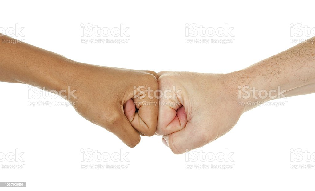 different color hands stock photo
