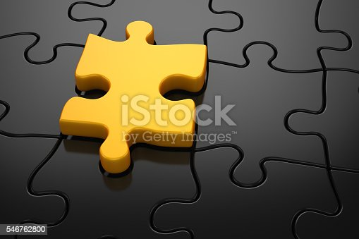 istock Different color puzzle piece 546762800