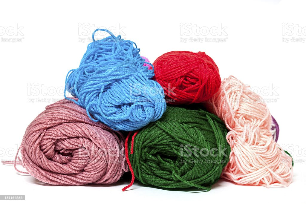 Different color silk threads royalty-free stock photo