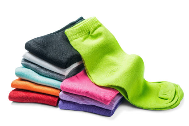 different color socks isolated – Foto