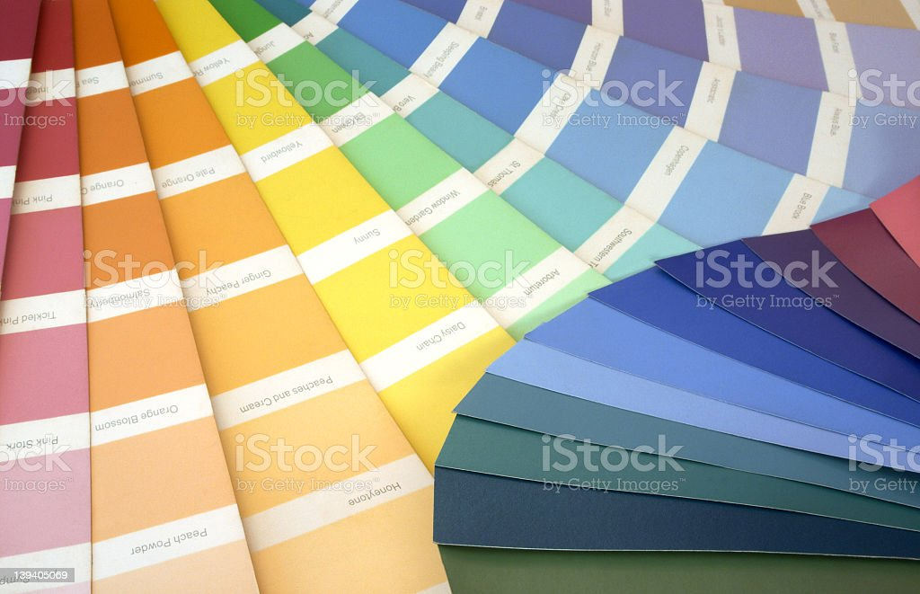 Different Color swatch templates royalty-free stock photo